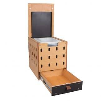 Trenntoiletten-Modul Eurobox im CargoClips Holzkasten