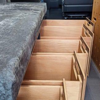 Schubladen-Modul unter Bett mit bis zu 5 Auszügen